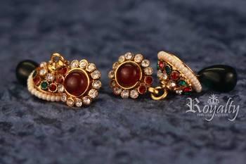 Royal Jhumka Pearls Golden Earrings