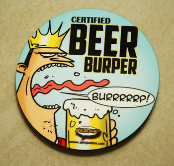 Beer Burper fridge magnet