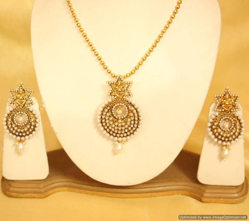 Buy tradional temple jewellery pearl pendant set online temple jewellery pearl pendant set mozeypictures Gallery