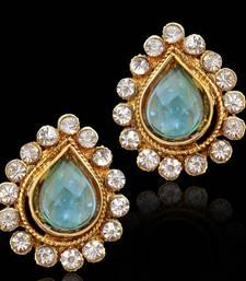 Buy Dazzling beautiful traditional INDIA bollywood polki stud earrings with stones - Rani stud online