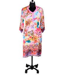 Buy Pink Digital Print Kurti evening-wear-dress online