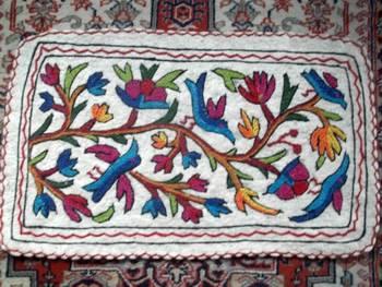 crewal embroidered namdha rug