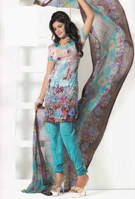 Crepe Dress Material Elegant Designer Unstitched Salwar Suit D.No 7275