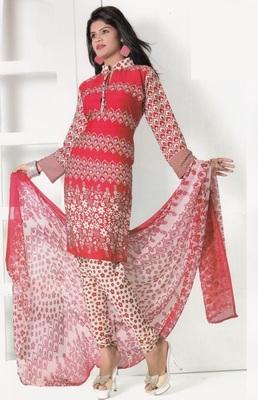 Crepe Dress Material Elegant Designer Unstitched Salwar Suit D.No 7288