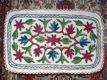 crewal namdha rug embroidered