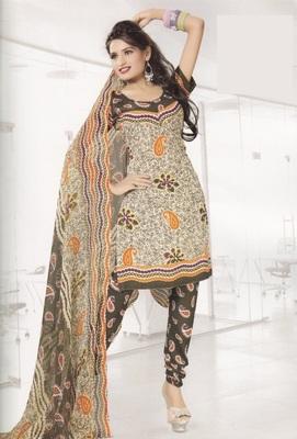 Crepe Dress Material Elegant Designer Unstitched Salwar Suit D.No 4322