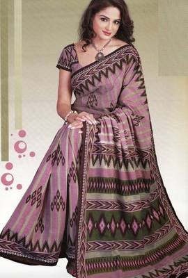 Elegant Cotton Saree With Blouse Piece D.No 974
