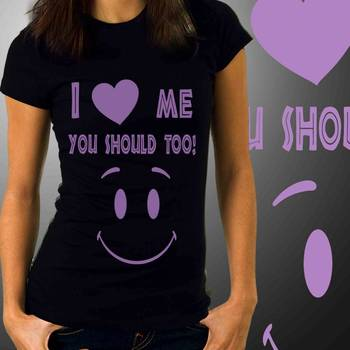 I Love Me Womens Funny T-shirt at Offer