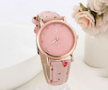 Pink Floral Delight Watch