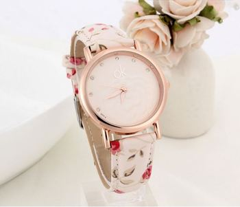 Offwhite Floral Delight Watch