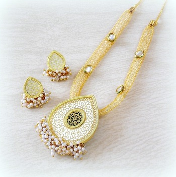FINE CZ FILLED CHAIN THEWA NECKLACE SET