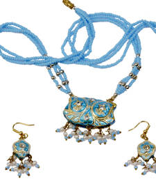Buy Stylish Turquoise Lacquer Jewellery Necklace Set necklace-set online