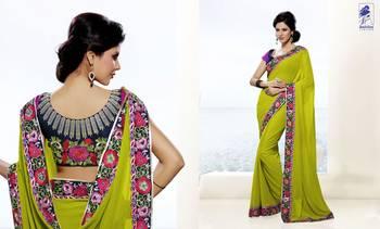 Elegant Designer Sari Kesar19