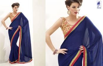 Elegant Designer Sari Kesar20