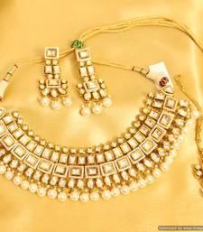 Buy Kundan Meenakari Royal Pearl Necklace Set necklace-set online
