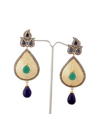 Sihiri Glorious Green Earrings