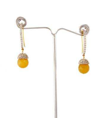 Sihiri Yellow Drop Earring