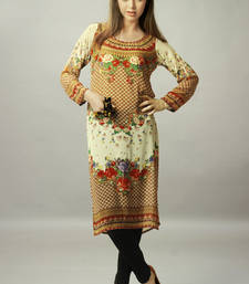 Buy Multi Colour Georgette Full Sleeves Kurti kurtas-and-kurti online