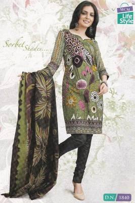 Cotton dress material elegant designer unstitched  salwar suit d.no lfc1840