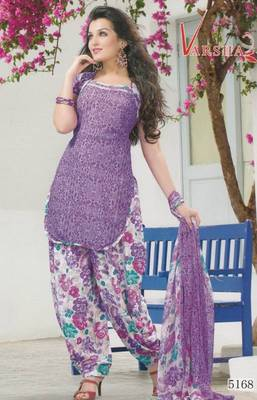 Crepe dress material elegant designer unstitched salwar suit d.no 5168