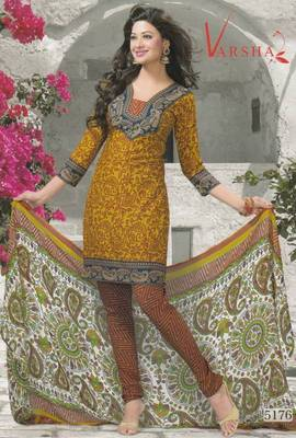 Crepe dress material elegant designer unstitched salwar suit d.no 5176