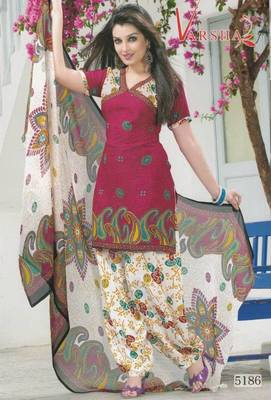 Crepe dress material elegant designer unstitched salwar suit d.no 5186