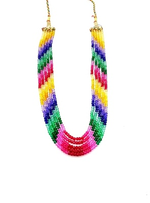 Designer Multi Colour Rainbow Strand