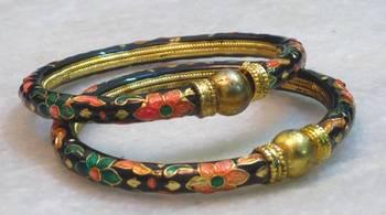 Classic ethnic beautiful traditional multicolored meenakari bangles