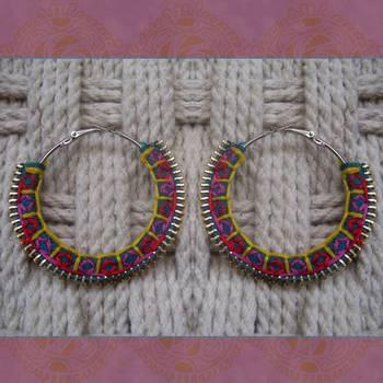 color carnival- handmade hoops
