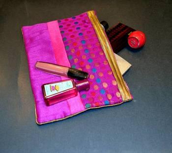 Silk Pouch - Pink