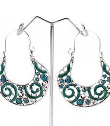 Buy Sparkling Beads Studded Earrings hoop online