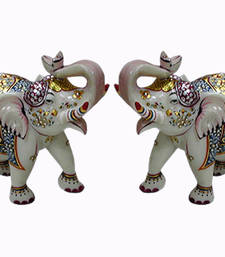 Buy Marble elephant pair congratulation-gift online