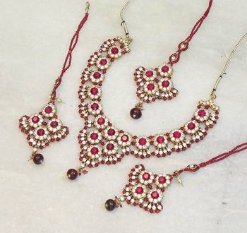 Elegant bridal party zircon colored stone necklace set ns04