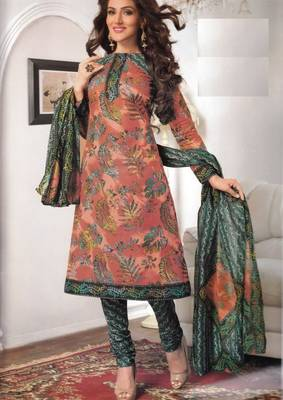 Cotton Dress Material Elegant Designer Unstitched Salwar Suit D.No 3168