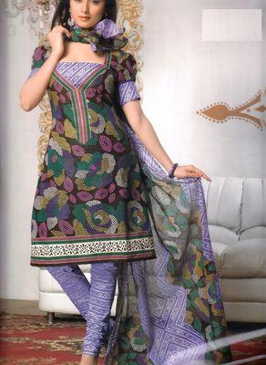 Cotton Dress Material Elegant Designer Unstitched Salwar Suit D.No 3174