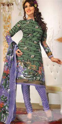 Cotton Dress Material Elegant Designer Unstitched Salwar Suit D.No 3196