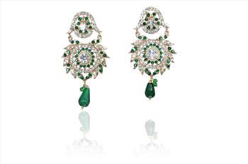 Indian Fashion Women Elegant Green earrings