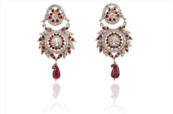 Fashion women Vintage  Maroon Earrings