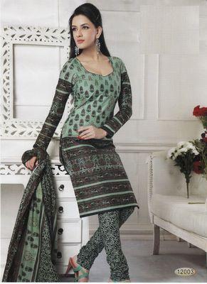 Cotton Dress Material Elegant Designer Unstitched Salwar Suit D.No 12003