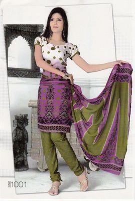 Dress Material Elegant Crepe Printed Unstitched Salwar Kameez Suit D.No SJ1001