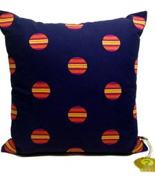 Buy Blue Cushion Cover With Circled Embroidery other-home-furnishing online