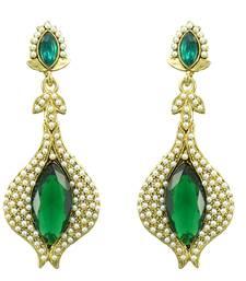 Buy Green pearl danglers-drops danglers-drop online
