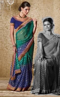Elegant Designer Sari Gun8408a