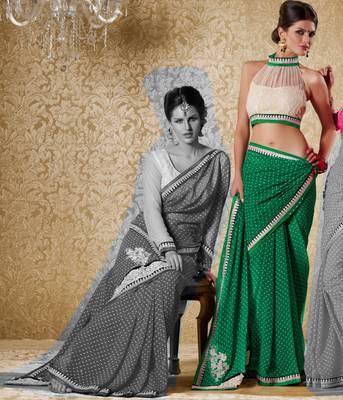 Elegant Designer Sari Gun8421b