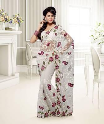 Elegant Designer Sari Saffron 209