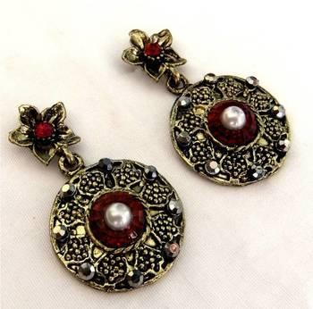 Red & Copper earrings