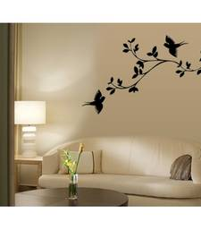 See Larger Image Wall Stickers Mirror Reflections Mirror Wall Sticker  Online India Butterfly Wall Decals Mirror