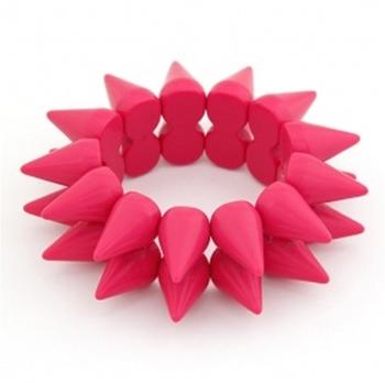 Neon Pink Spike Bracelet