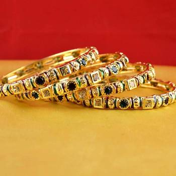 gold platted bangles size-2.6,2.8,2.10