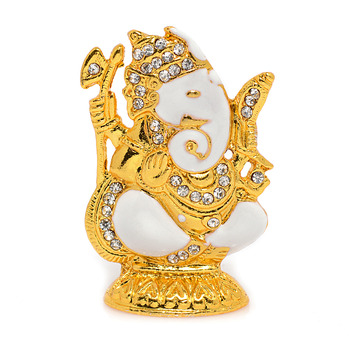 Religious Metal and stone studded Shakathi Ganesh Idol